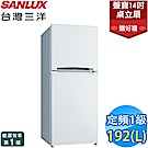 SANLUX台灣三洋 192L 1級定頻2門電冰箱 SR-B192B3