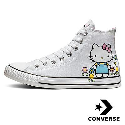 CONVERSE 女休閒鞋 KITTY聯名款 白