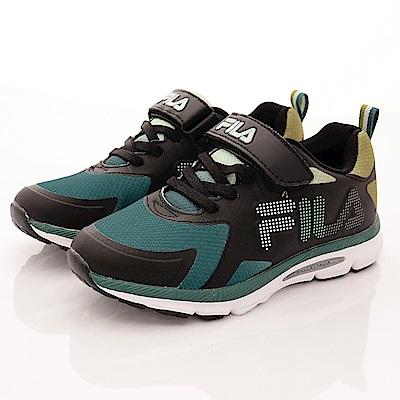 零碼-21cm FILA頂級童鞋 義式經典款 EI01R-061黑綠