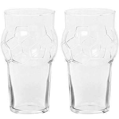 《EXCELSA》造型啤酒杯2入(足球派對590ml)