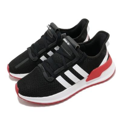 adidas 休閒鞋 U Path Run 襪套式 男女鞋 愛迪達 基本款 緩震 情侶鞋穿搭 黑 白 紅 FX0102