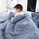 OLIVIA  波賽頓 藍  5x6尺夏日涼被   200織精梳純棉 台灣製
