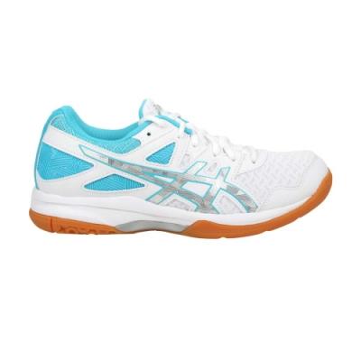 ASICS GEL-TASK 2 女排羽球鞋-排球 羽球 羽毛球 亞瑟士 1072A038-102 白水藍銀