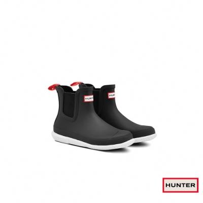 HUNTER - 女鞋 - Original曲線霧面切爾西踝靴 - 黑