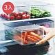日本霜山 掀蓋式層疊PET耐凍冰箱蔬果生鮮收納盒-3入 product thumbnail 1