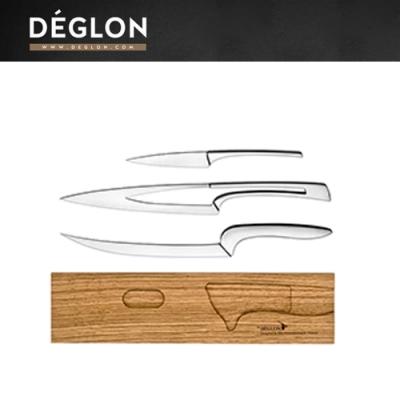 Deglon MEETING木座料理刀三件組(削皮刀、料理刀、片刀)