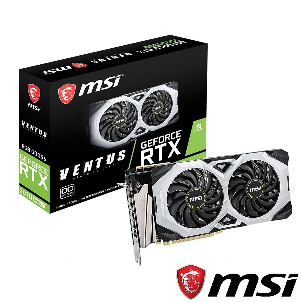 MSI微星 GeForce RTX 2070 SUPER VENTUS OC 顯示卡