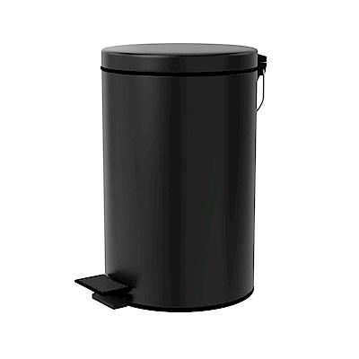 TRENY 加厚 緩降 不鏽鋼垃圾桶 12L (霧黑)