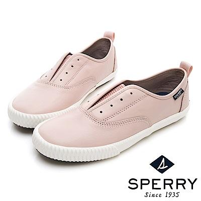 SPERRY 輕量減壓舒適牛皮休閒鞋(女)-粉色