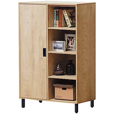綠活居 蘭迪時尚2.7尺木紋展示櫃/收納櫃-80x40x132cm免組