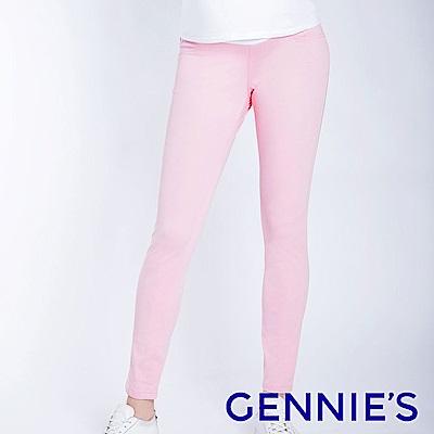 Gennies專櫃-彈力窄管顯瘦修身褲-粉(T4F09)