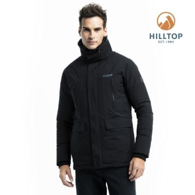 【hilltop山頂鳥】男款WINDSTOPPER保暖蓄熱羽絨短大衣PF22XM01ECA0黑