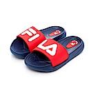 FILA KIDS 中童MD運動拖鞋-藍紅 2-S431T-321