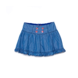 WHY AND 1/2 天絲棉牛仔短裙-內短褲 5Y~10Y