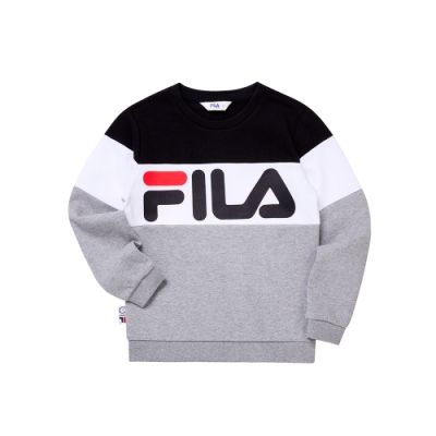 FILA KIDS WONNIE FRIENDS 童長袖上衣-麻灰 1TEU-4507-MY