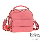 Kipling微甜薔薇粉兩用側背後背包-CANDY