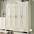 漢妮Hampton萊茵系列法式6.5尺四門衣櫥-195x62.5x235cm
