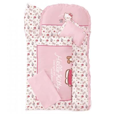 【les enphants(麗嬰房)】 Hello Kitty 午睡時光系列 寢具七件組