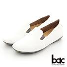 【bac】簡約素色懶人便鞋-白