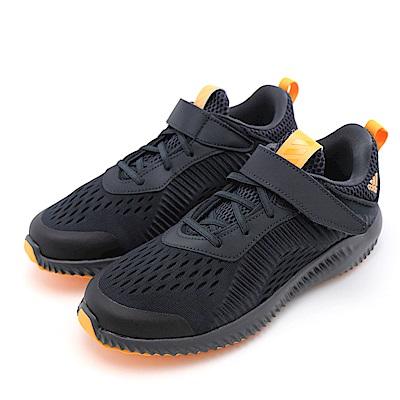 ADIDAS-中童慢跑鞋B22555-黑