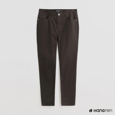 Hang Ten - 男裝 - 雙口袋素面休閒長褲 - 綠