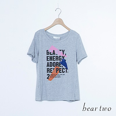 beartwo 雜誌標語英文字T恤上衣(三色)