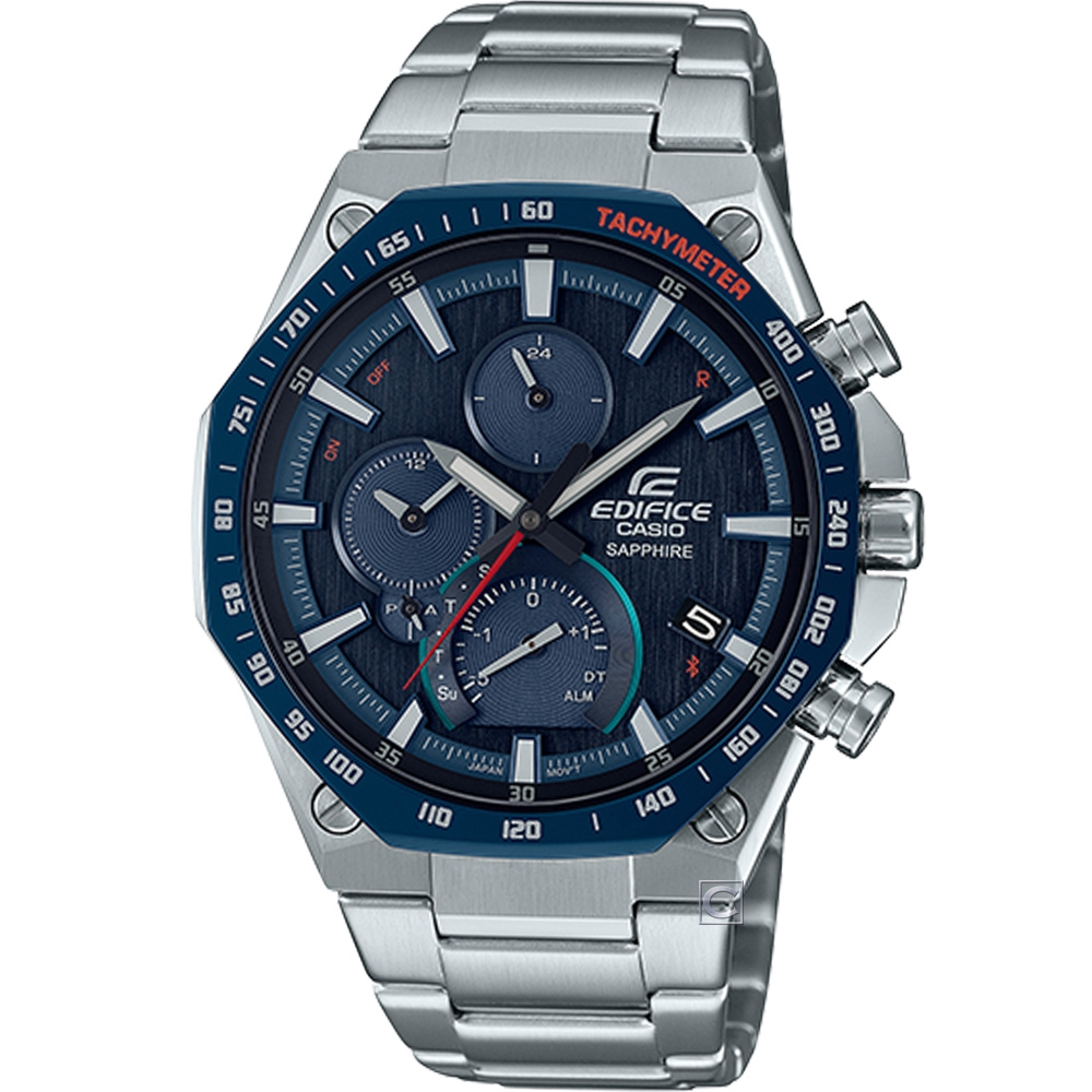 CASIO EDIFICE 八角錶圈旗艦款藍牙連線功能錶(EQB-1100XDB-2)