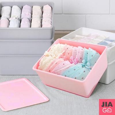 JIAGO 內衣褲襪子附蓋收納盒-1格