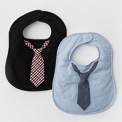 美國Frenchie MC 男嬰禮盒 - 帥氣領帶圍兜2件組