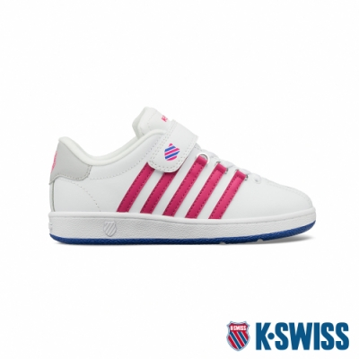 K-SWISS Classic VN VLC舒適運動鞋-童-白/桃紅/藍