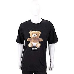 MOSCHINO Underwear 內褲泰迪熊寶寶黑色棉質T恤(男款)