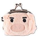 可愛豬造型小珠扣包 膚色UNIQUE