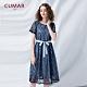 【CUMAR】蕾絲修身綁帶長版-洋裝(二色/版型適中) product thumbnail 1