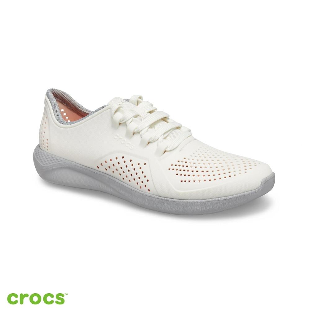 Crocs 卡駱馳 (男鞋) LiteRide徒步繫帶鞋-204967-1CS