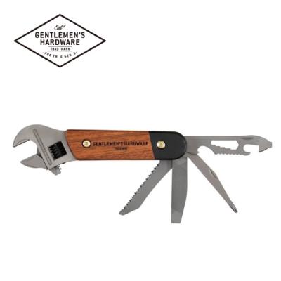 【Gentlemen s Hardware】經典多用途戶外板手刀具組-木質握把