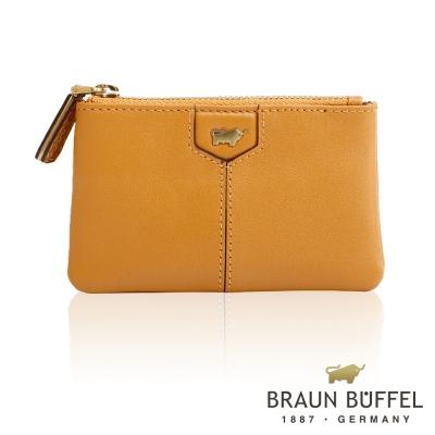 BRAUN BUFFEL - 蕾絲莉系列雙層零錢包 - 深桔黃