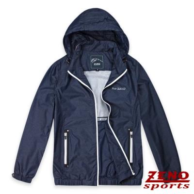 ZENO 防潑水超輕量撞色連帽外套-二色