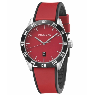 Calvin Klein CK 美式質感時尚橡膠腕錶(K9R31CUP)42mm