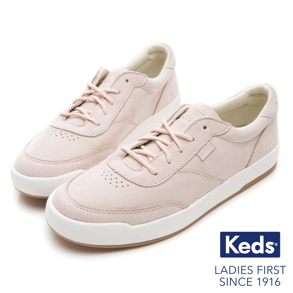 Keds MATCH PIONT 經典復刻牛巴戈休閒鞋-淺粉