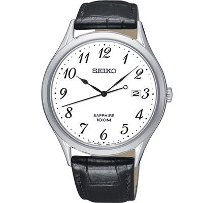 SEIKO 精工 百米防水紳士錶(SGEH75P1)