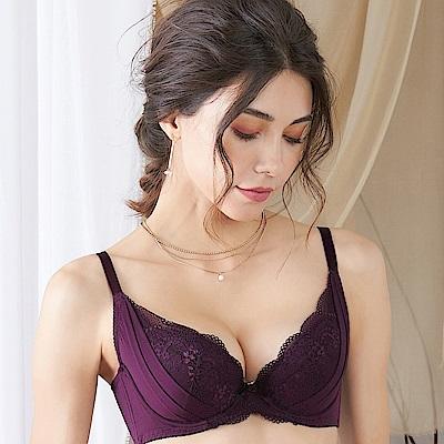 EASY SHOP-繾綣時光 大罩杯B-E罩成套內衣(葡萄紫)