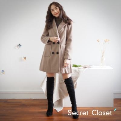 Secret Closet-氣質雙排收腰長版大衣