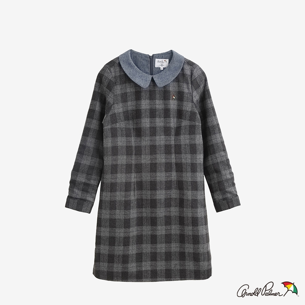 Arnold Palmer -女裝-學院格紋長版洋裝-灰色