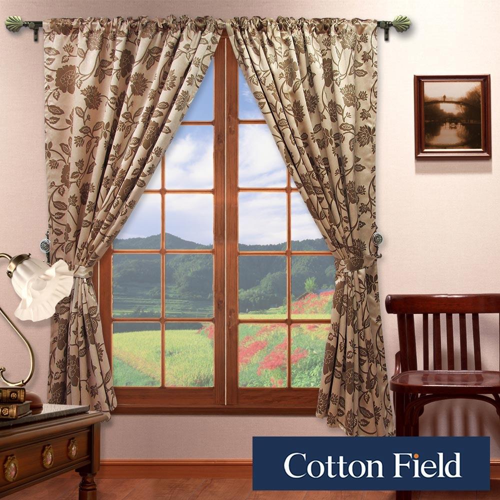 棉花田 法爾 印花仿麂皮穿掛兩用遮光窗簾(270x165cm)
