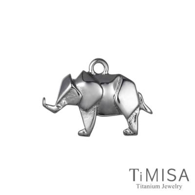 TiMISA  幾何大象 純鈦墜飾