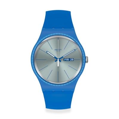 Swatch New Gent 原創系列手錶 BLUE RAILS -41mm