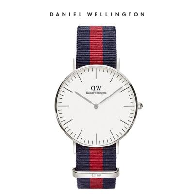 時時樂限定|DW 手錶 官方旗艦店 36mm 銀框織紋錶 (四款任選)