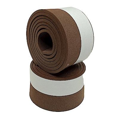 金德恩 台灣製造 防撞防塵降噪多功能隙縫密封泡棉膠條100cm (2入)