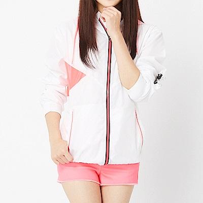 【TOP GIRL】雙色修身風衣外套-白色