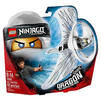 【LEGO樂高】NINJAGO忍者系列 70648 冰忍 冰之飛龍大師陀螺
